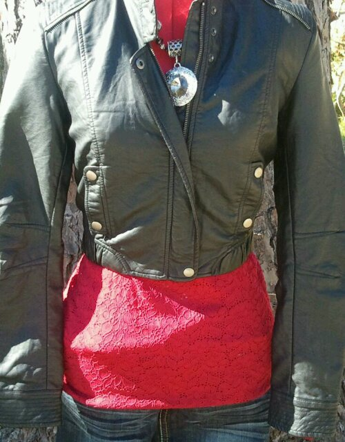 Styling Leather and Lace for fall